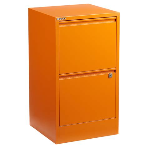 Two Drawer File Cabinet With Lock by Bisley Orange 2 3 Drawer Locking Filing Cabinets The