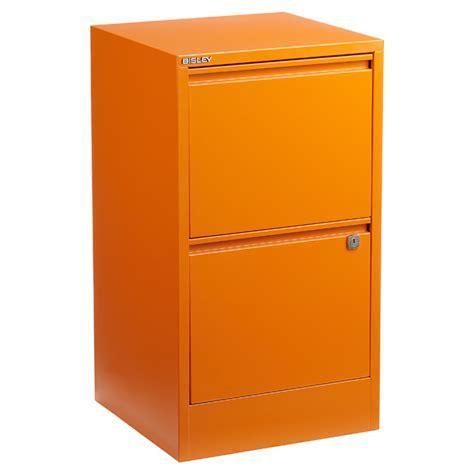 Bisley Orange 2  & 3 Drawer Locking Filing Cabinets   The