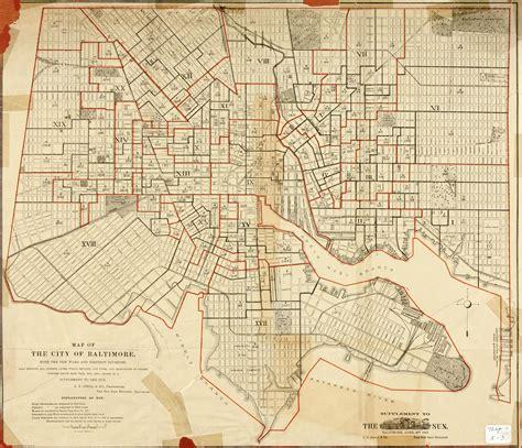 baltimore city map map of baltimore map2