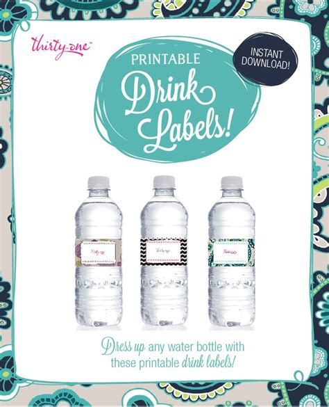 printable drink labels 1000 images about thirty one on pinterest shopping