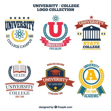 free logo design for university pacote de logotipos da faculdade elegantes baixar
