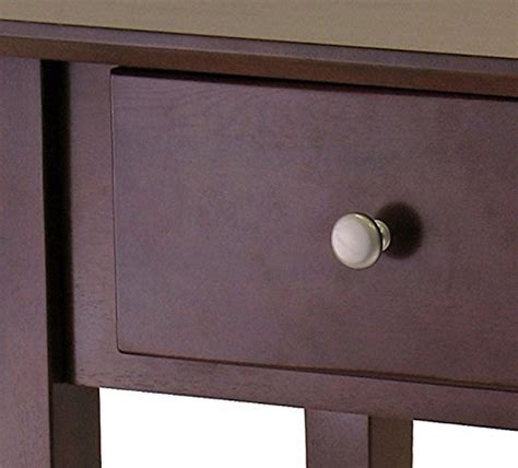winsome wood nightstand with drawer walnut winsome wood shaker night stand antique walnut finish