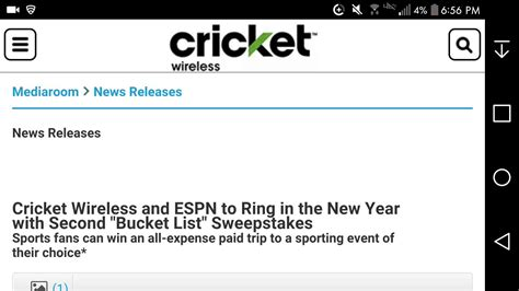 Sweepstakes Cricket - cricket wireless launches quot bucket list quot sweepstakes youtube