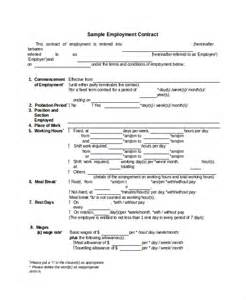 Employment Contract Agreement Template 15 Contarct Templates Free Sample Example Format