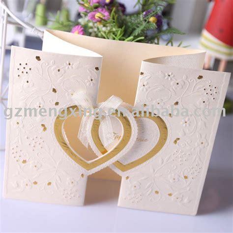 Handmade Wedding Cards For Sale - w001hot sale popular pretty handmade wedding invitations