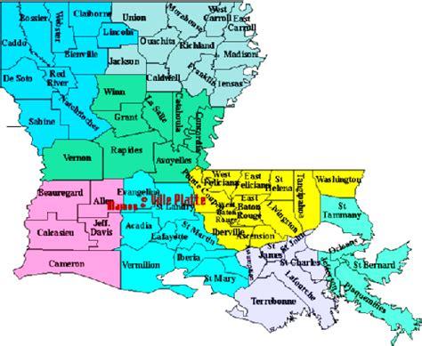 louisiana map cities and parishes louisiana parish map