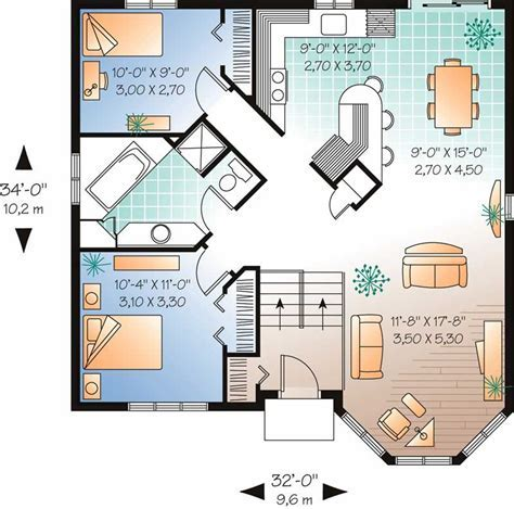 Bungalow   Contemporary Home with 2 Bedrooms, 991 Sq Ft