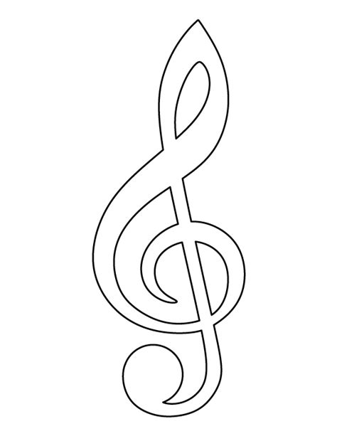 Treble Clef Template Treble Clef Pattern Use The Printable Outline For Crafts