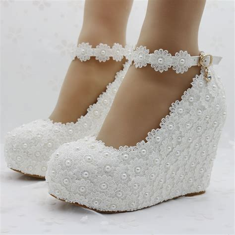 White Lace Wedding Wedges by Popular White Wedges Wedding Buy Cheap White Wedges