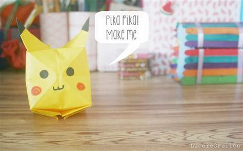 Origami Pikachu Box - origami pikachu tutorial