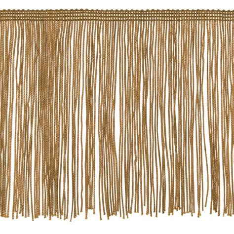 upholstery fringe 6 quot chainette fringe trim gold discount designer fabric