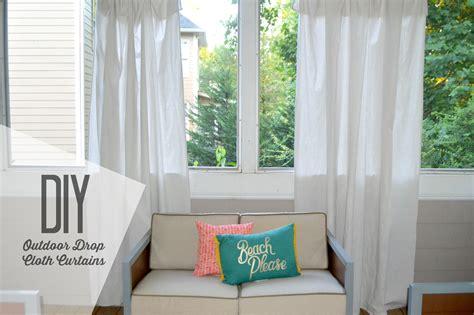 Diy Outdoor Curtains Diy Outdoor Drop Cloth Curtains Baby Shopaholic