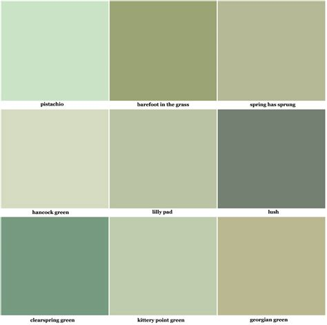 inspiring green paint swatches 10 green paint color swatch newsonair org