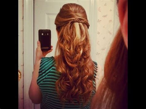 half up half down prom hairstyles youtube beautiful half up half down hairstyle youtube