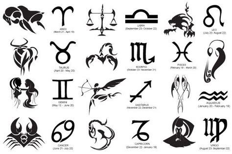 free tattoo pictures of zodiac signs download horoscope symbols vector for free zodiac