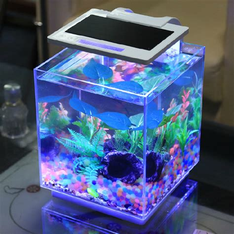 My Fish Tv New Products Goldfish Mini Tank Filter Aquarium Mini free shipping dense mini desktop aquarium fish tank ultra white glass goldfish bowl turtle tank