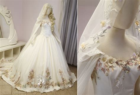 Floral Bridal by Floral Princess Bridal Gown And Cape By Firefly Path On