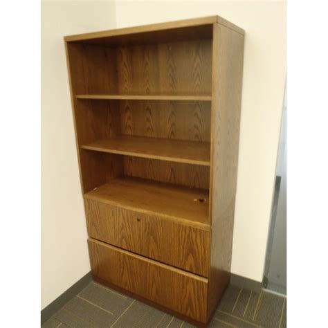 2 drawer wood file cabinet with oh bookcase bookshelf 3