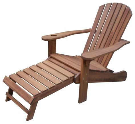 chair with built in ottoman eucalyptus adirondack chair with drink holder and built in