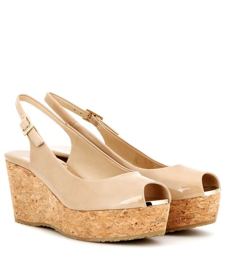 Get Your Groove On With Jimmy Choo Patent Shoes by Lyst Jimmy Choo Praise Patent Leather Wedges In