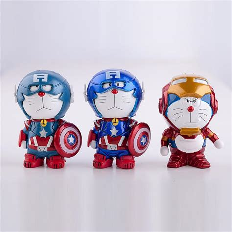 Doraemon Captain America 1 2017 anime doraemon captain america iron
