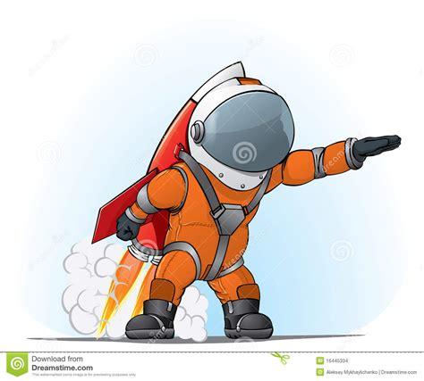 Raket Or astronaut op de raket stock afbeeldingen afbeelding
