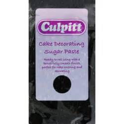 Sugar Paste For Cake Decorating by Culpitt 250g Black Cake Decorating Sugar Paste Ready To