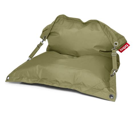 pouf buggle up olive green fatboy