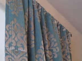 Grey And Teal Curtains Pair Of Teal With A Gray Damask Print Curtains Sale Grey Curtains Lush Livings Custom