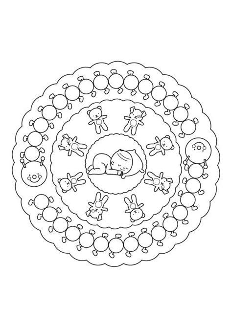 Imagenes De Mandalas Para Bebes | mandala beb 233 dibujo para colorear e imprimir