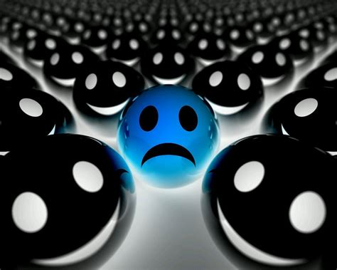 wallpaper 3d sad sad face 3d abstract black blue sad smileys white 66918