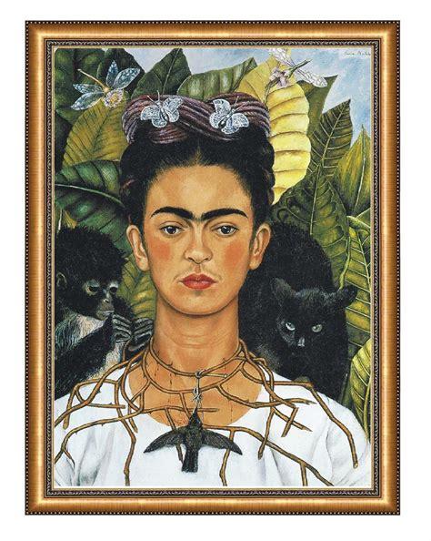 cuadros frida kahlo cuadro frida kahlo collar con espinas 80x100cm 1 200