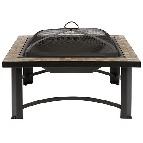 Outdoor Fireplace Spark Arrestor by Bbq Pro Square Tile Top Pit 30 Quot Limited Availability