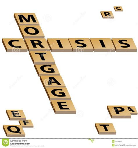 Loan Letters Crossword mortgage crisis crossword puzzle stock photos image