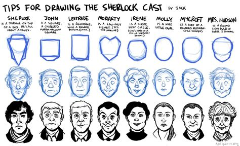 how to use doodle cast tips for drawing the sherlock cast by jackarais on deviantart