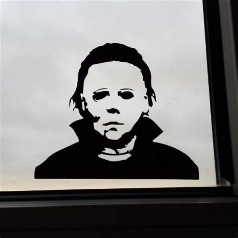 scary michael myers decal