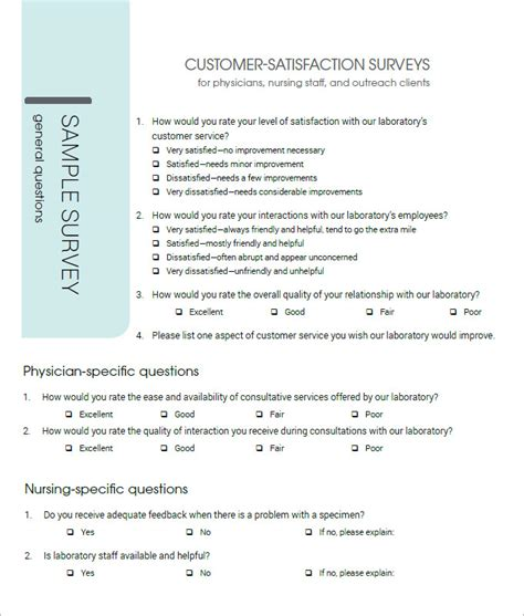 Customer Satisfaction Survey Template 10 Free Pdf Word Documents Download Free Premium Client Satisfaction Survey Template