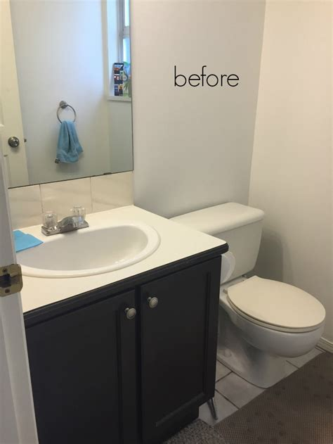 waits bathroom black white french powder room makeover so much