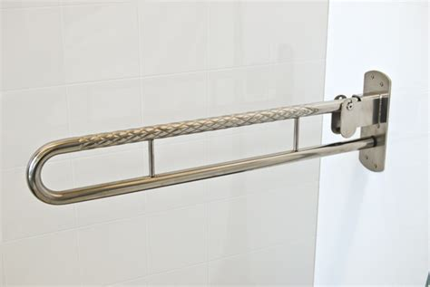 stainless steel folding drop  safety rails superquip