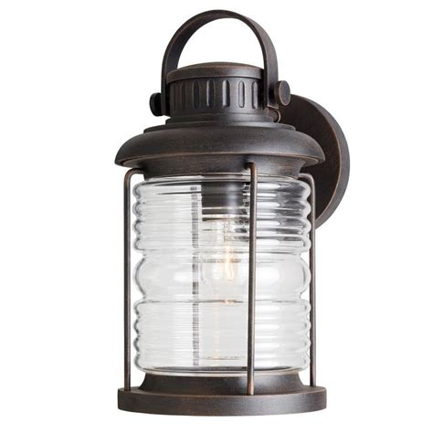 Shop Allen Roth Stonecroft 14 86 In H Rust Outdoor Wall Allen Roth Landscape Lighting