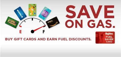 Hy Vee Fuel Saver Gift Cards - save on gas