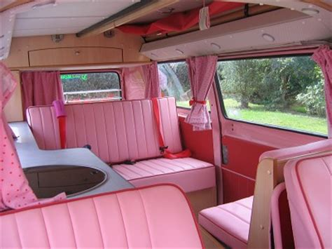 pink volkswagen van inside cervan vw splitscreen cervan new leather