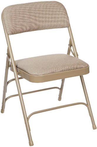 folding chairs padded seat and back national seating 2300 series steel frame