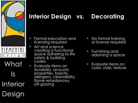 education needed to be an interior designer how is an interior designer different than an interior decorator