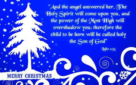 Christmas greeting card with bible verses about jesus birth in luke 1