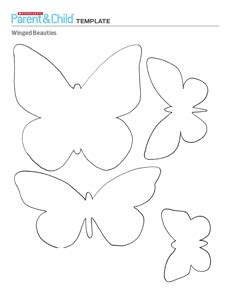 3d Butterfly Card Template by Parent Child Craft Templates Bulletin