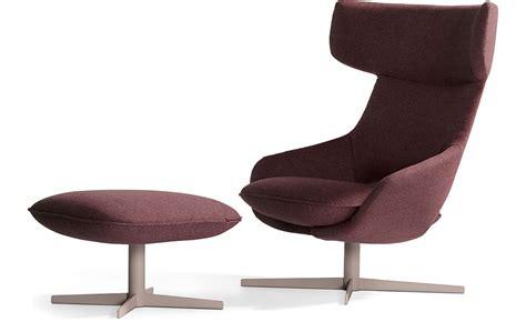 Kalm Swivel Metal Base Lounge Chair Ottoman Hivemodern Com Swivel Chair Base Manufacturers