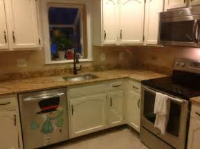 countertops and backsplash mac s before after solarius granite countertop