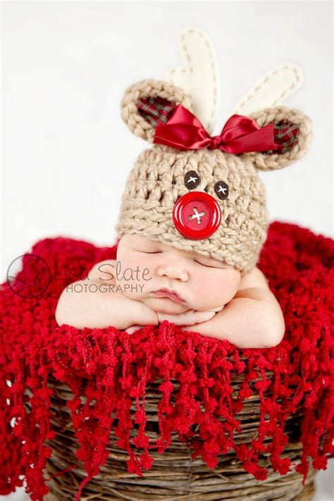 baby reindeer hat rudolph reindeer hat newborn photo prop deer hat