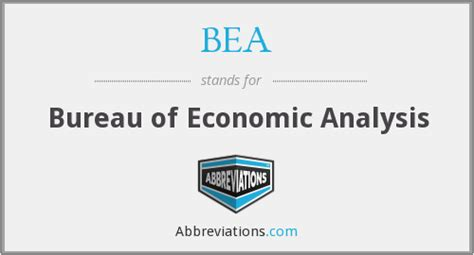 bureau of economic statistics bea bureau of economic analysis